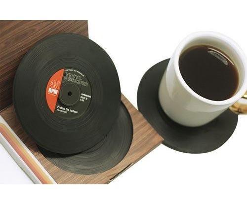 Vinyl Record Drink Coasters