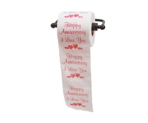 Happy Anniversary Toilet Paper Gift