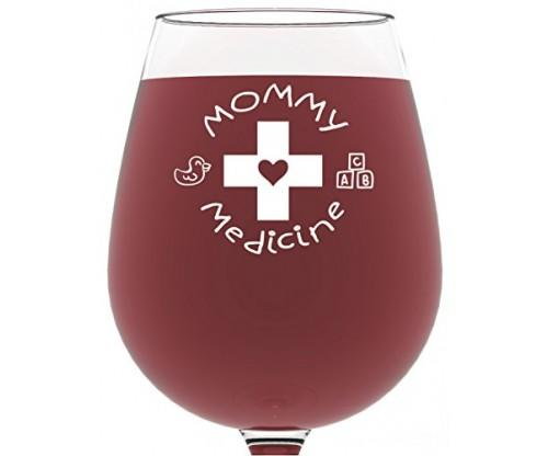 Mommy Medicine Wine Glass