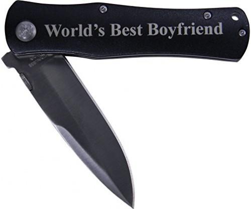 World's Best Boyfriend Folding Pocket Knife