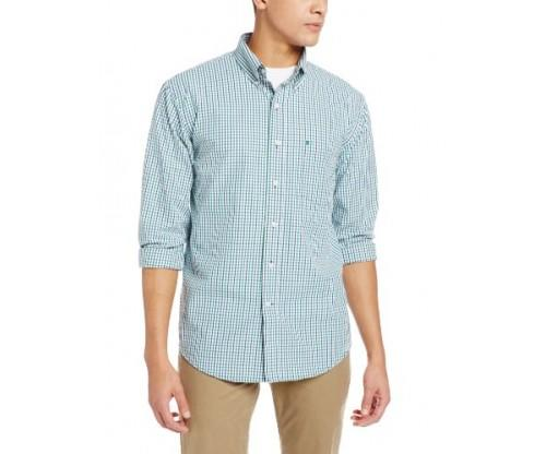 IZOD Men's Tattersall Long Sleeve Shirt