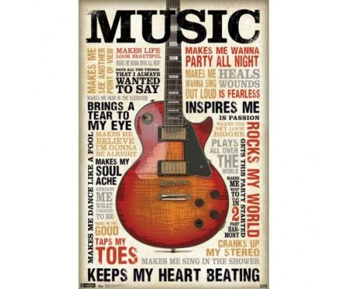 Music Inspires Me Wall Poster