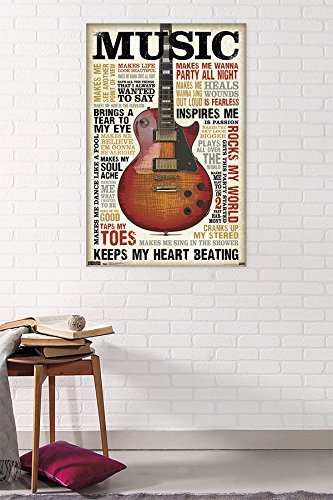 Music Inspires Me Poster By Trends International