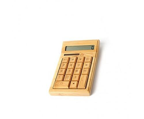 Glovion Nature Bamboo Wood Calculator