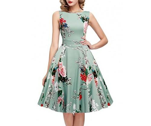 OWIN Women's Vintage Floral Cocktail Dress