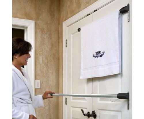 Hinge N Hang Behind Door Towel Rack