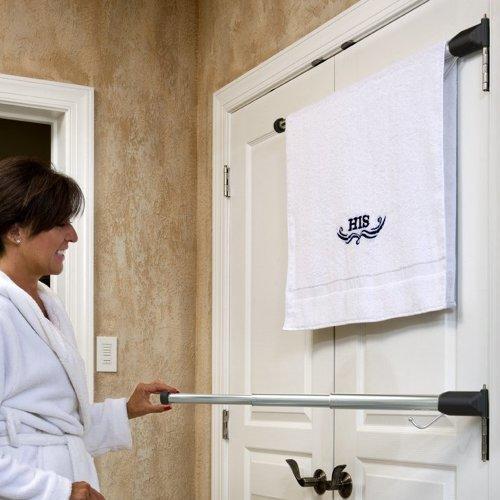 & Elegant Hinge N Hang Behind Door Towel Rack | ThatSweetGift