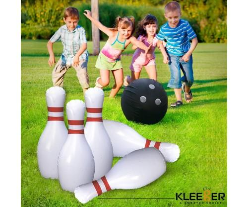 Kleeger Giant Inflatable Kids Bowling Set