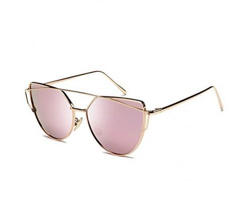 Joopin Women Metal Polarized Cat Eye Sunglasses