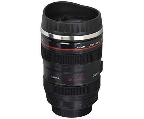 Travel Thermos Camera Lens Coffee Mug