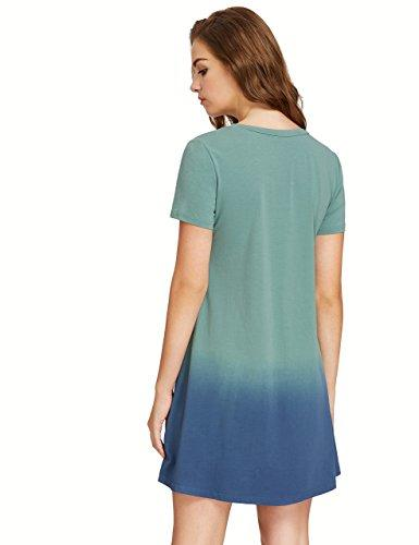 c0376b18711 ROMWE Women s Tunic Swing T-Shirt Dress