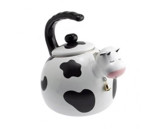 Supreme Housewares Cow Shaped Whistling Tea Kettle