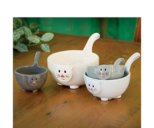 Bits and Pieces – Ceramic Cat Measuring Cups