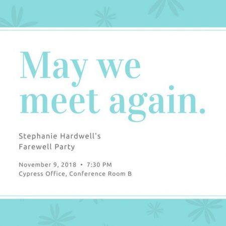 farewell party invitations