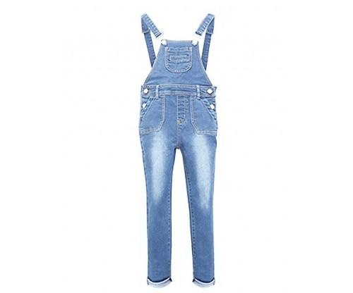 YJ.GWL Girls Denim Overalls