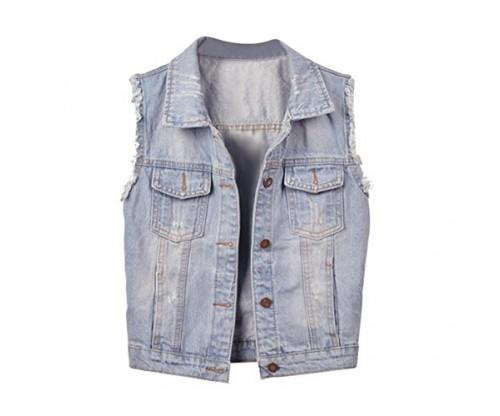 Big Girls' Denim Vest