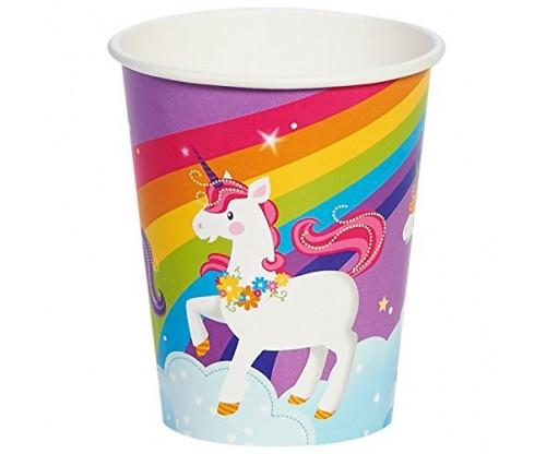 Fairytale Unicorn Rainbow Party Paper Cups