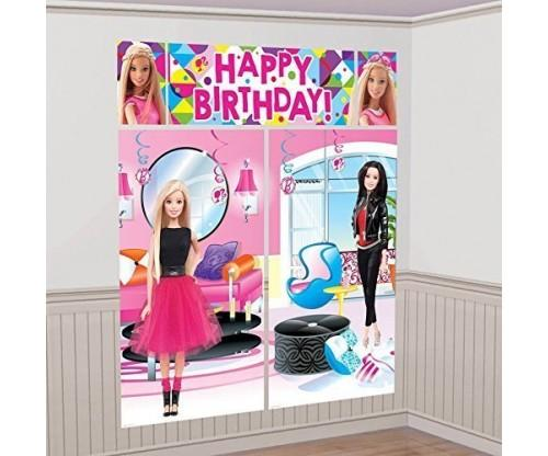Barbie Sparkle Birthday Wall Decorating Kit
