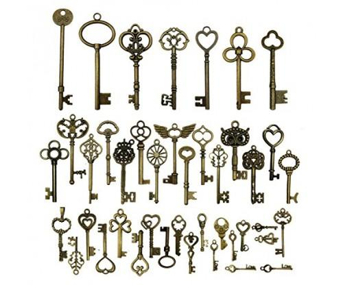 Mixed Vintage Skeleton Keys