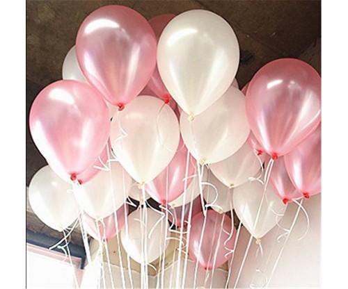 AnnoDeel Pink and White Balloons