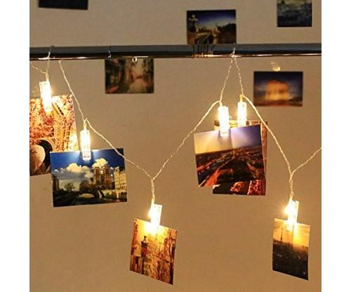Photo Hanging Clips String Lights