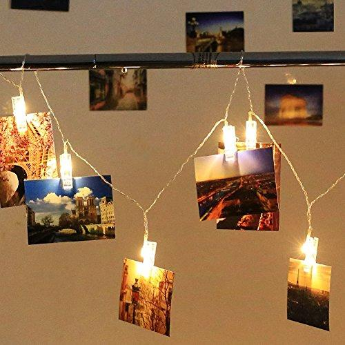Led photo hanging clips string lights to light up your photos - How to hang up string lights ...