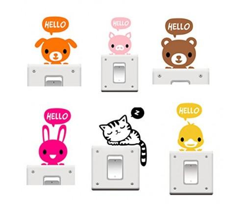 Buytra 6 Pieces Cute Animals Stickers