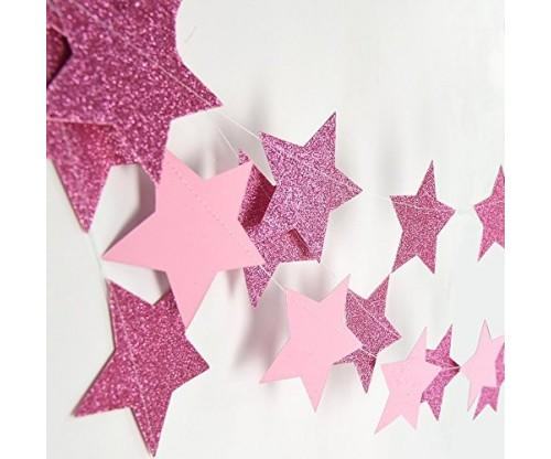 Pinkold Star Garland