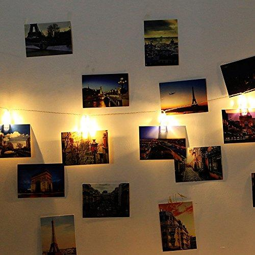 String Lights In Office: LED Photo Hanging Clips String Lights To Light Up Your Photos