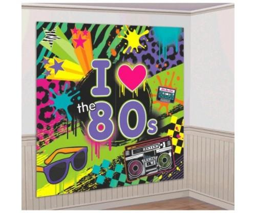 Amscan Awesome 80's Party Wall Scene Setter