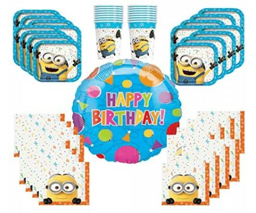 16 Guest Despicable Me Value Pack Party Supplies Bundle
