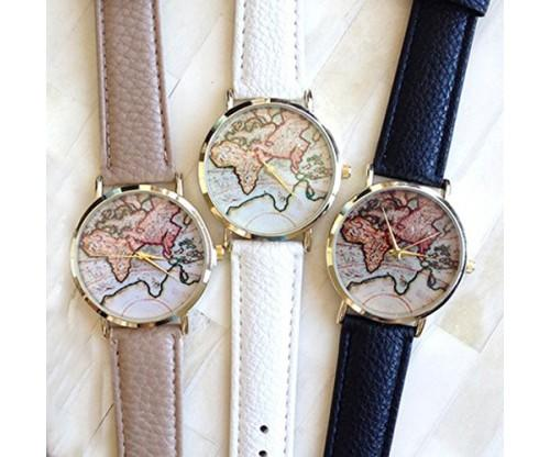 World Map Watch In All Colors