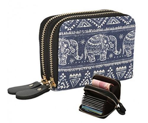 Womens Zipper Card Wallet