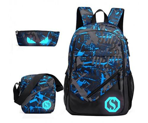 JiaYou School Backpack Florescent Mark