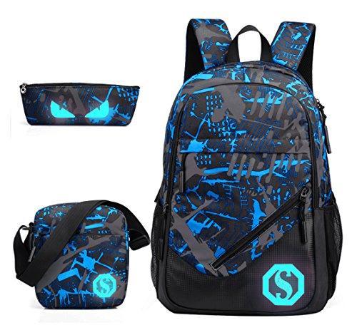 JiaYou School Backpack  Florescent Teen Backpack  ad7e2aa91cb99