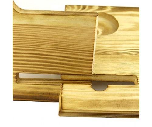 Wooden Phone Docking Station with Key Holder