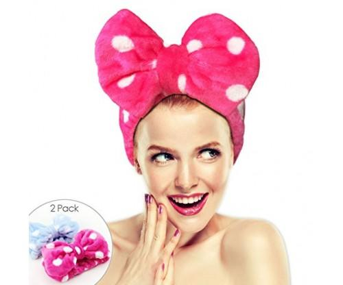Big Bow 2 Pack Hairizone Makeup Headbands