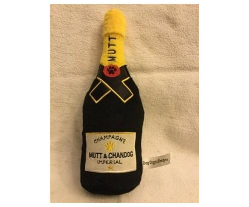 Dog Diggin Designs; Mutt and Chandog Imperial Champagne Dog Toy