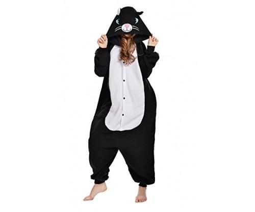 Black/White Cat Costume & Sleepsuit