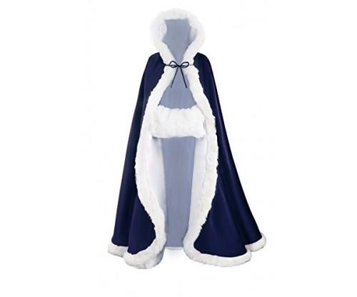 Beautelicate Wedding Cape and Hooded Cloak For Bride