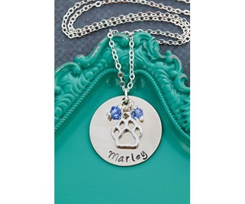 Distinctlyivy Personalized Paw Print Necklace