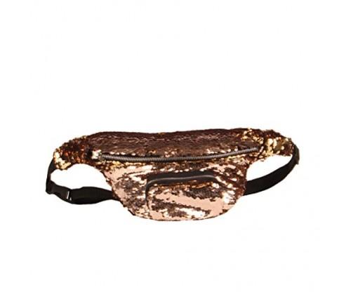 BESTOYARD Sequins Fanny Pack Waist Pack Bag