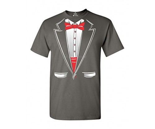 Shop4Ever Classic Tuxedo T-shirt Party Costume Shirts