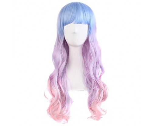MapofBeauty 28″ Wavy Multi-Color Lolita Cosplay Wig
