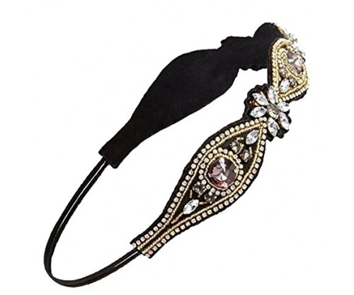 Fashion Retro Women HairBand Crystal Rhinestone
