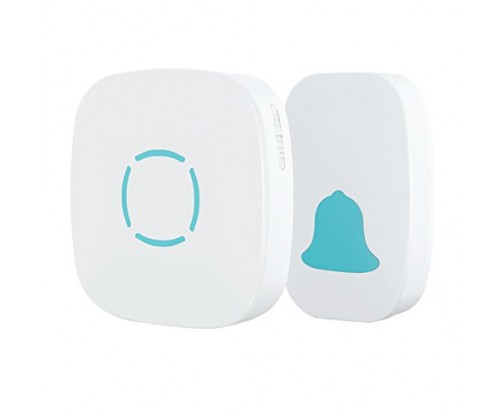 MoKo Wireless Doorbell, Plug-in Push Button with 36 Chimes