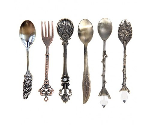 Awakingdemi Vintage Royal Style Carved Spoons