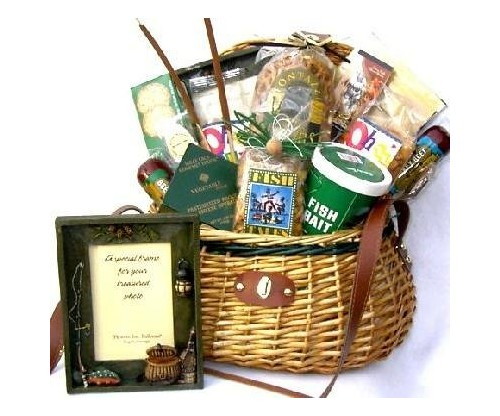 Village Fishing Gift Basket for Fishermen