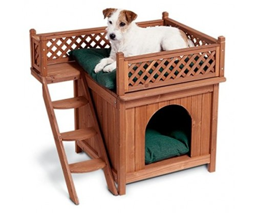 Wood Pet House – Room With A View by Merry Products