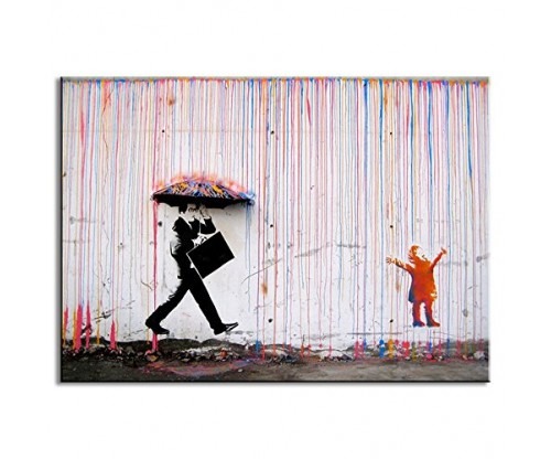 DVQ Art-Banksy Art Colorful Rain Prints Paintings